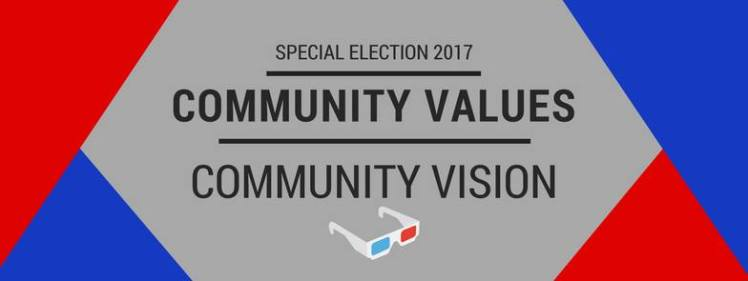 Special Election 2017 Community Values & Vision