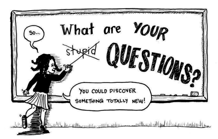 Comic saying there are no stupid questions